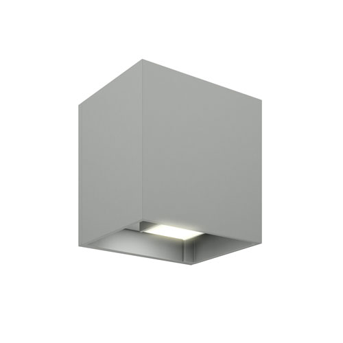 Silver Grey LED 300 Lumen Outdoor Wall Sconce