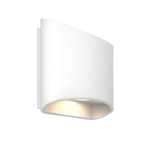 White ADA LED Outdoor Wall Mount