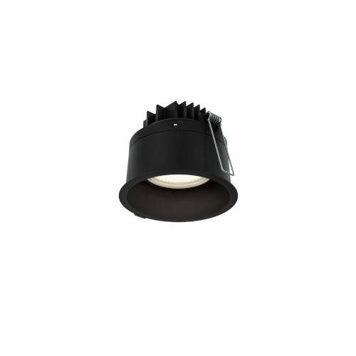 Black Two-Inch Round Indoor Outdoor LED Regressed Gimbal Down Light