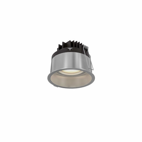 Satin Nickel Two-Inch Round Indoor Outdoor LED Regressed Gimbal Down Light