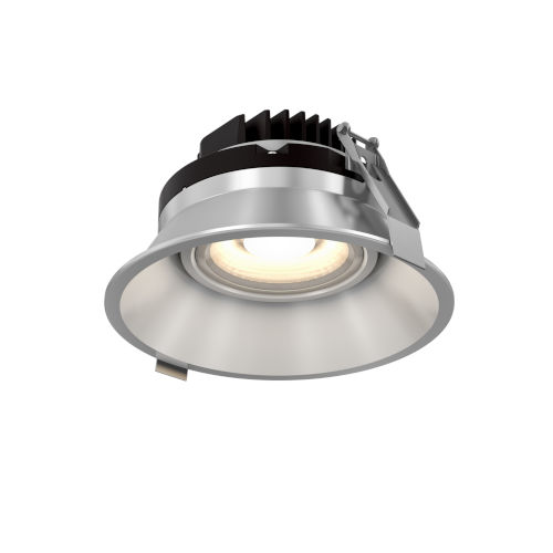 Satin Nickel Six-Inch ADA LED Gimbal Recessed Light