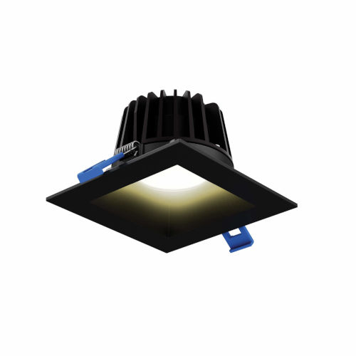 Black Six-Inch Square Indoor Outdoor Regressed Gimbal Down Light