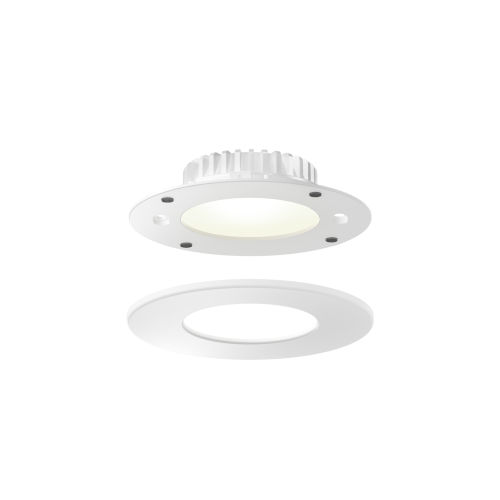 White Four-Inch ADA LED Panel Light