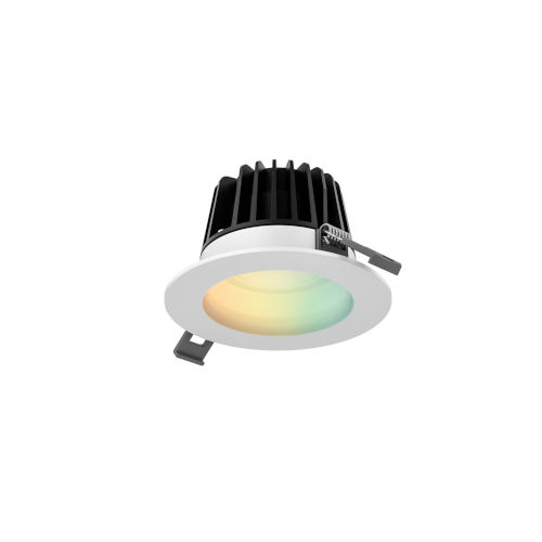 White RGB LED Recessed Light