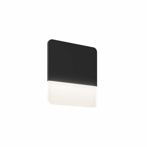 Black 10-Inch Square Ultra Slim LED Wall Sconce