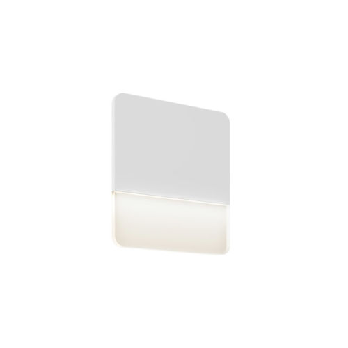 White 10-Inch Square Ultra Slim LED Wall Sconce