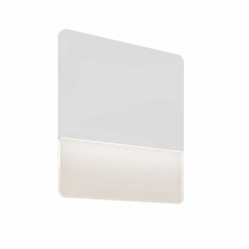 White 15-Inch Square Ultra Slim LED Wall Sconce