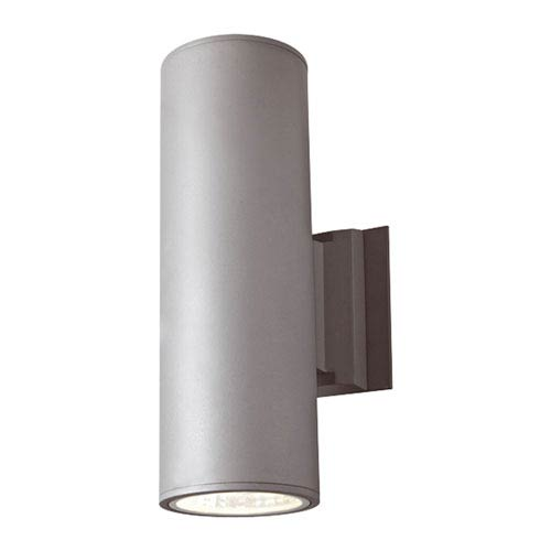 Silver Grey 20W Cylinder LED Outdoor Wall Light
