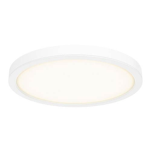 White 28W Energy Star LED Round Flush Mount