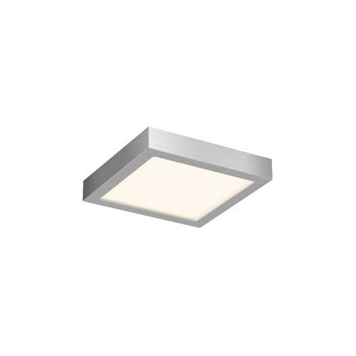 Satin Nickel 11W Square LED Flush Mount