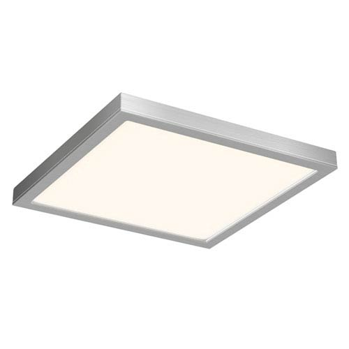 Satin Nickel 28W Energy Star Square LED Flush Mount