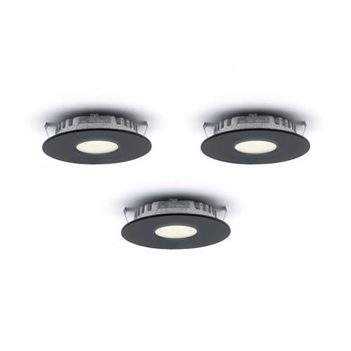 DALS Lighting Superpuck Black LED Under Cabinet Recessed Puck Light Kit (Set of 3)