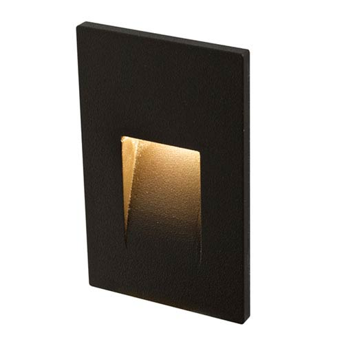 Forms Series Black 3.5W Vertical LED Step Light