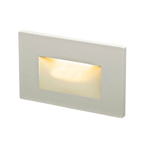 DALS Lighting Forms Series White 3.5W Recessed Horizontal LED Step Light