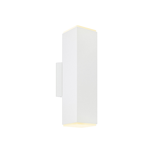 DALS Lighting White LED Outdoor Square Cylinder Wall Sconce