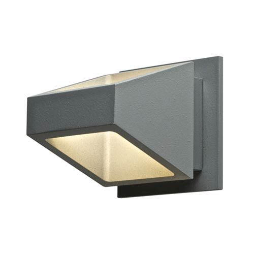 Silver Grey 8.5W Up and Down LED Outdoor Wall Sconce