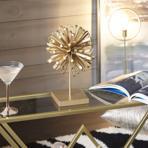 Baker Gold Bow Stand Table Decor