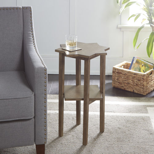 Rustic Gray Accent Table