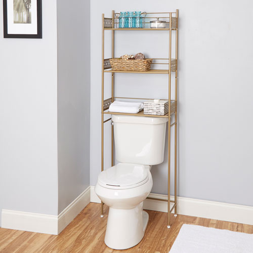 Magnolia Bathroom Collection Space Saver, Gold