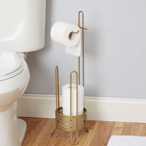Magnolia Bathroom Collection Toilet Paper Holder, Gold