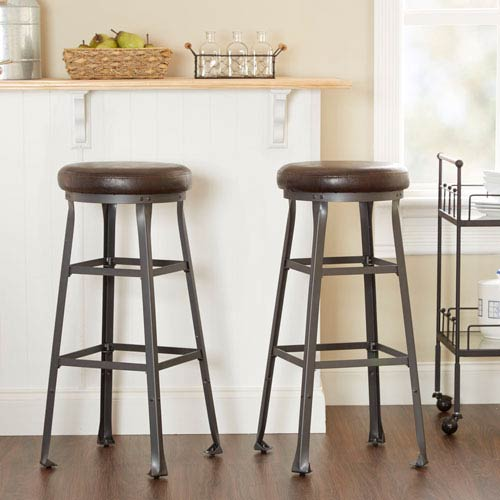 Preston Industrial Bar Stool , Set of Two