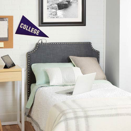 Cypress Headboard in Charcoal, Twin