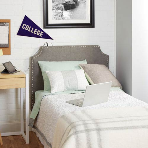 Cypress Headboard in Light Grey, Twin