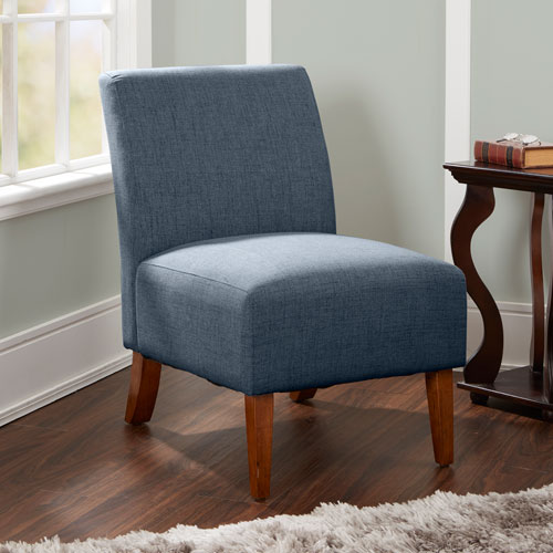 North Oaks Addison Upholstered Accent Chair in Dark Grey