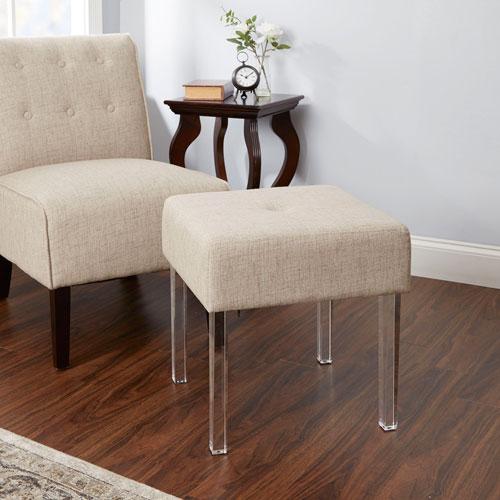Claire Acrylic Leg Square Bench