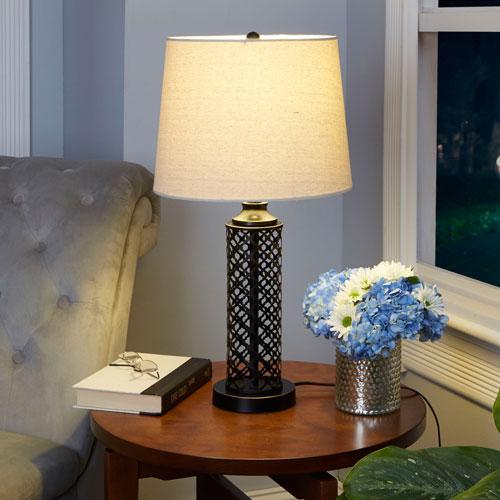 Elaina Metal Screen Table Lamp