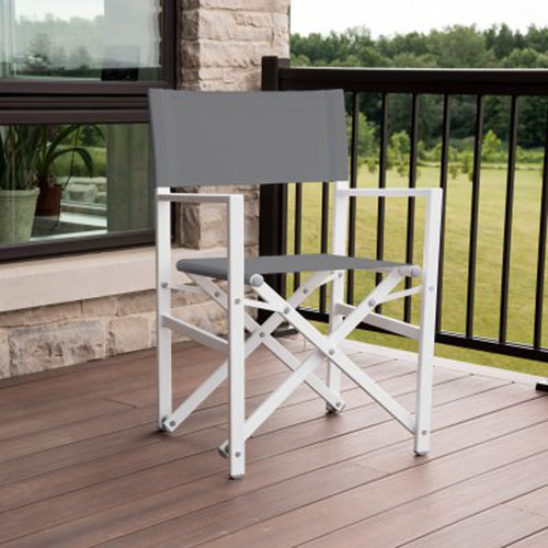 Studio Dark Grey Aluminum Folding Directors Chair