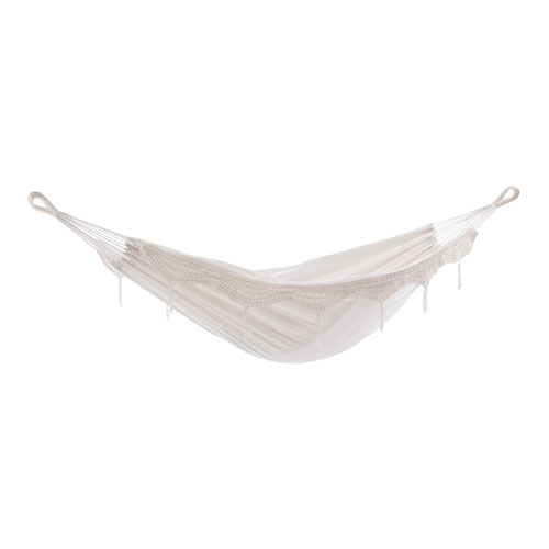 Brazilian Style Natural with Fringe Double Hammock