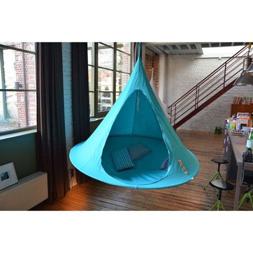 Vivere Double Cacoon Hammock Turquoise