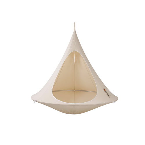 Vivere Double Cacoon Hammock Natural White