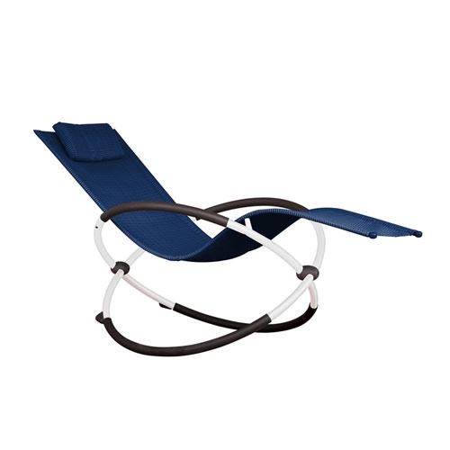 Vivere Orbital Single Navy Lounger