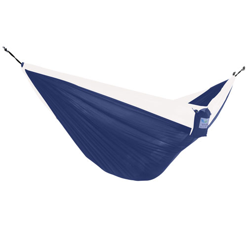 Vivere Parachute Navy and White Double Hammock