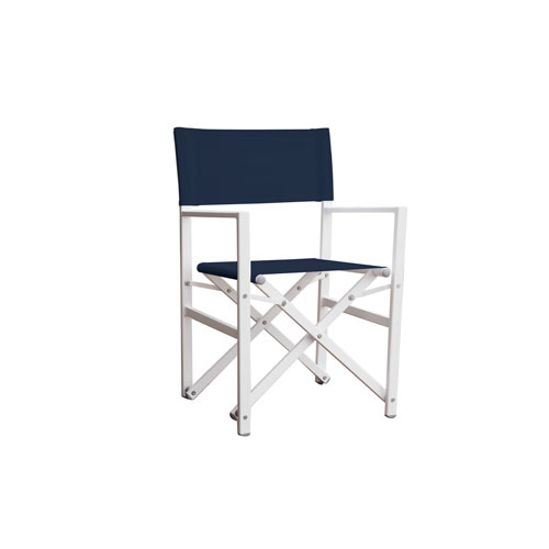 Studio Navy Aluminum Folding Directors Chair