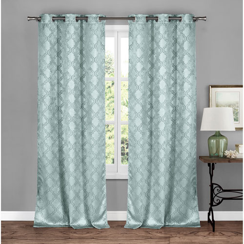 Brylee Soft Blue 84 x 34 In. Grommet Panel Pair