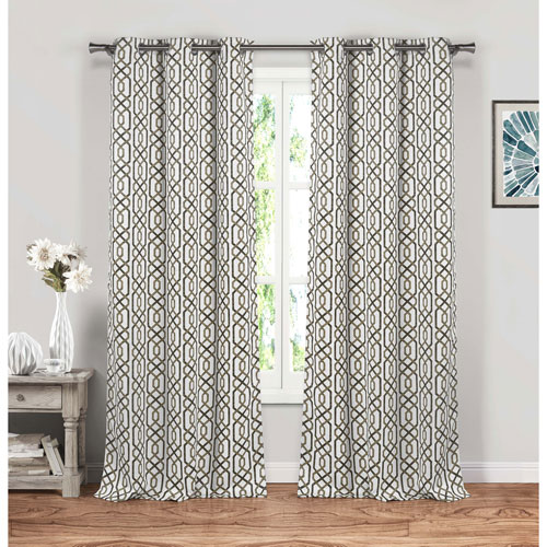 Blackout 365 Micah Taupe 84 x 38 In. Grommet Panel Pair