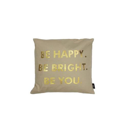 Kensie Home Alissa Gold Metallic Linen 20 In. Throw Pillow Shell