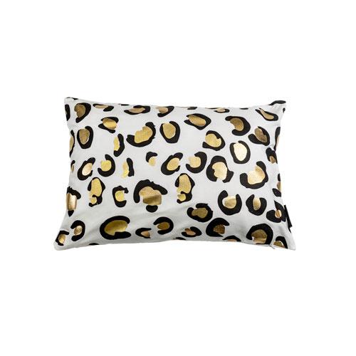 Kensie Home Aoi Metallic Animal Print 14 x 20 In. Throw Pillow Shell