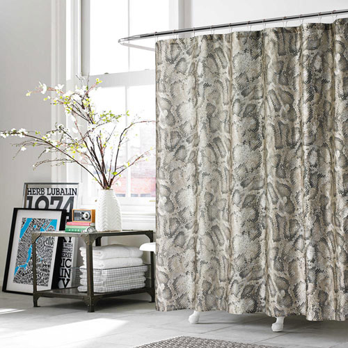 Kensie Home Beverly Taupe Shower Curtain