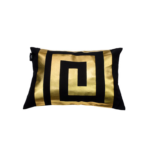 Kensie Home James Black and Gold Metallic 14 x 20 In. Throw Pillow Shell
