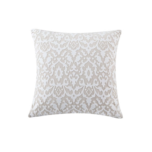 Josephine White and Linen 20 In. Throw Pillow Shell