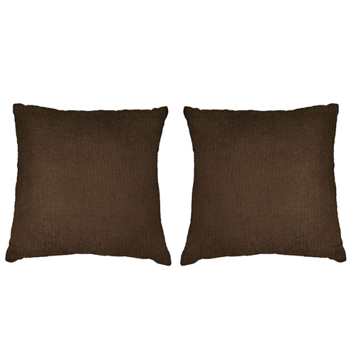 Kensie Home Kerry Chocolate Velvet 18 In. Pair Decorative Pillow