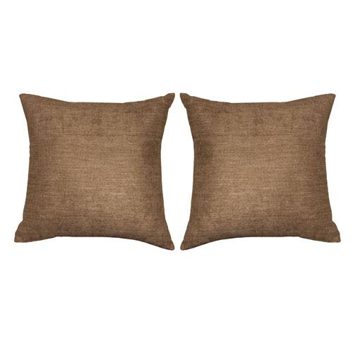 Kensie Home Kerry Khaki Velvet 18 In. Pair Decorative Pillow