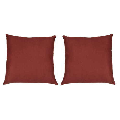 Kensie Home Kerry Red Velvet 18 In. Pair Decorative Pillow