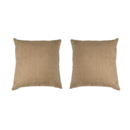 Kensie Home Kerry Taupe 18 In. Pair Decorative Pillow