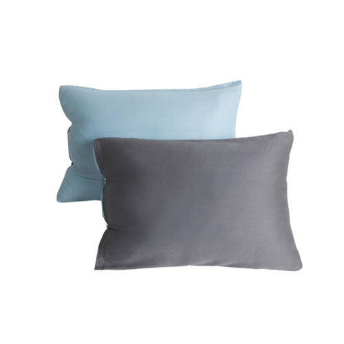 Kensie Home Kittery Grey and Blue 20 In. Throw Pillow with Feather Fill