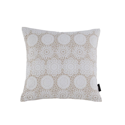 Kensie Home Laramie Taupe 20 In. Throw Pillow